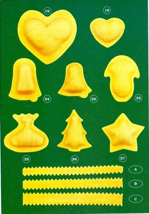 Moules et formats de ravioli - Machines à ravioli