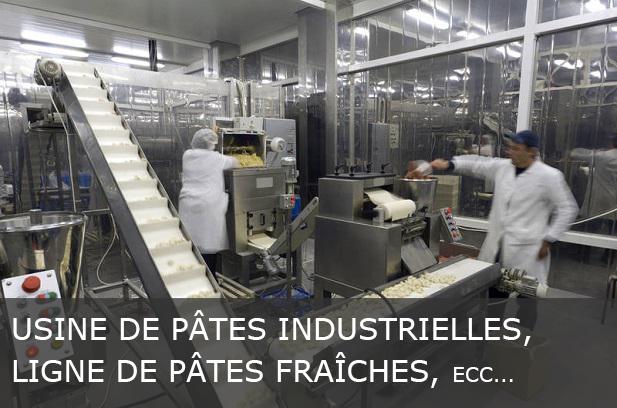 USINE DE PÂTES INDUSTRIELLES LIGNE DE PÂTES FRAÎCHES